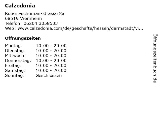 Calzedonia Germany GmbH in Viernheim: Adresse und Öffnungszeiten