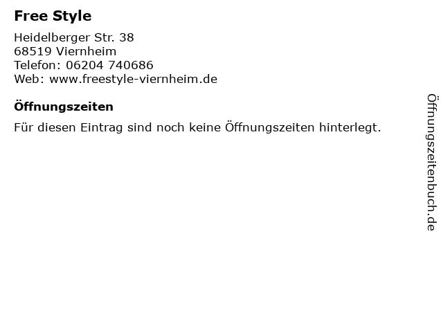 Free Style in Viernheim: Adresse und Öffnungszeiten