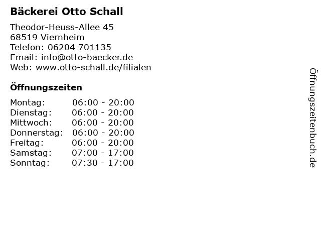 K & U Bäckerei in Viernheim: Adresse und Öffnungszeiten
