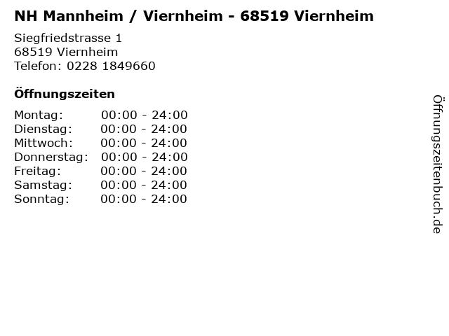 NH Mannheim / Viernheim - 68519 Viernheim in Viernheim: Adresse und Öffnungszeiten