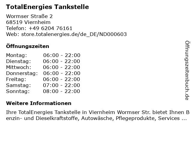 TotalEnergies Tankstelle in Viernheim: Adresse und Öffnungszeiten