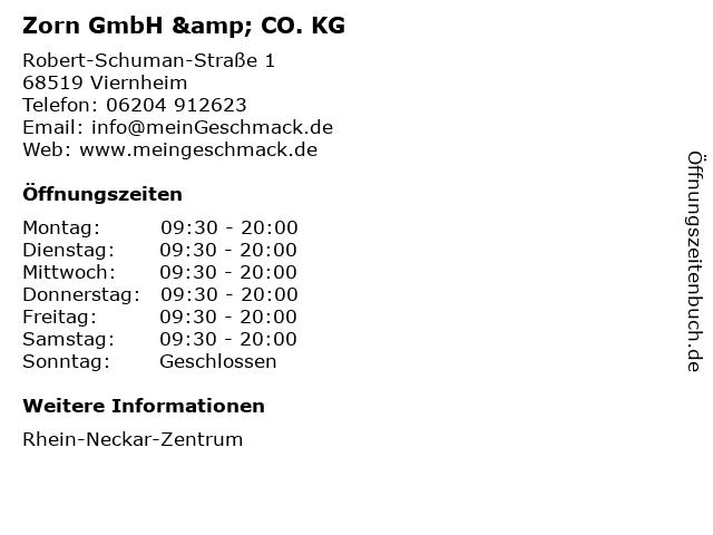 Zorn GmbH & CO. KG in Viernheim: Adresse und Öffnungszeiten