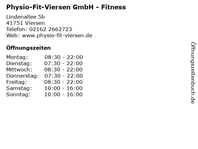 Physio-Fit-Viersen GmbH - Fitness in Viersen: Adresse und Öffnungszeiten