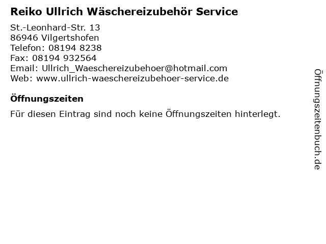 ᐅ öffnungszeiten Reiko Ullrich Wäschereizubehör Service St