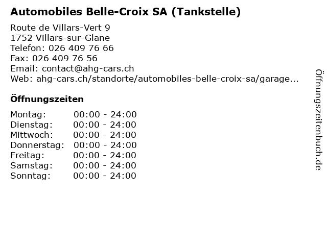 Automobiles Belle-Croix SA (Tankstelle) in Villars-sur-Glane: Adresse und Öffnungszeiten