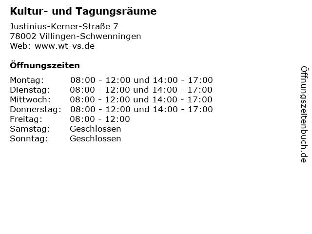 Kultur- und Tagungsräume in Villingen-Schwenningen: Adresse und Öffnungszeiten