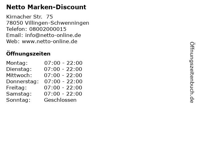 Netto Marken-Discount in Villingen-Schwenningen: Adresse und Öffnungszeiten