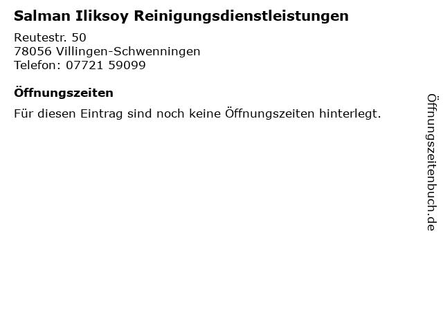 Salman Iliksoy Reinigungsdienstleistungen in Villingen-Schwenningen: Adresse und Öffnungszeiten