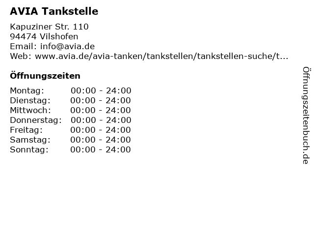 AVIA Tankstelle in Vilshofen: Adresse und Öffnungszeiten