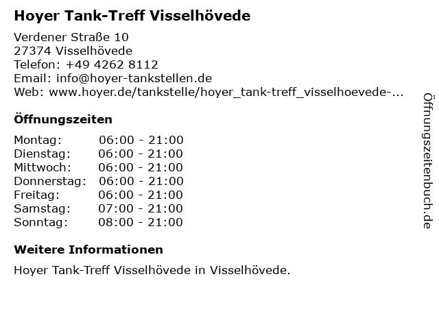 Tank-Treff in Visselhövede: Adresse und Öffnungszeiten