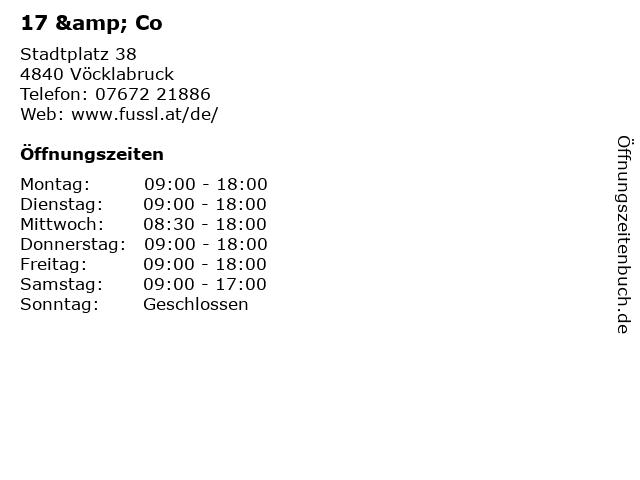 17 & Co in Vöcklabruck: Adresse und Öffnungszeiten