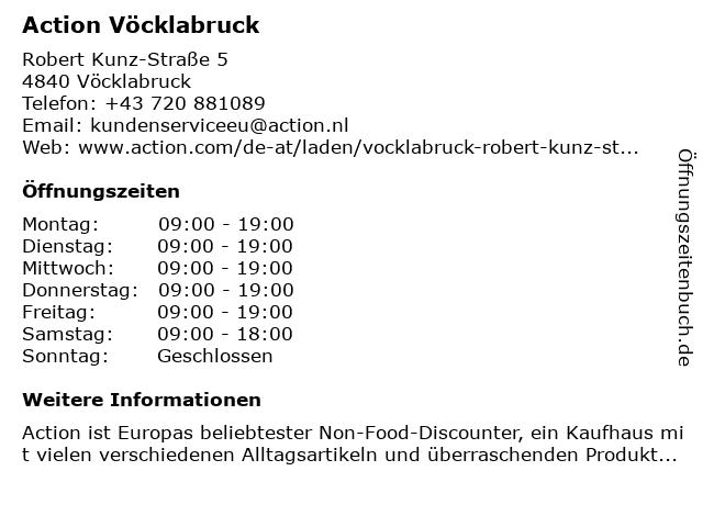 Action Retail Austria GmbH in Vöcklabruck: Adresse und Öffnungszeiten