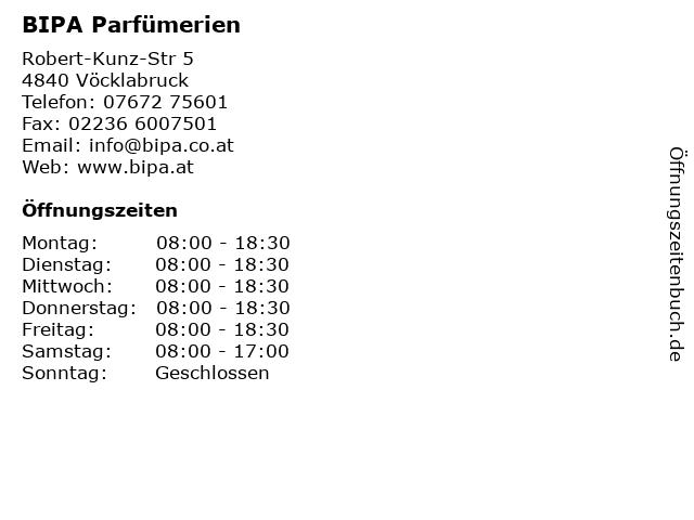 BIPA Parfümerien in Vöcklabruck: Adresse und Öffnungszeiten