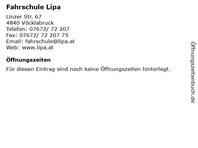 Fahrschule Lipa in Vöcklabruck: Adresse und Öffnungszeiten
