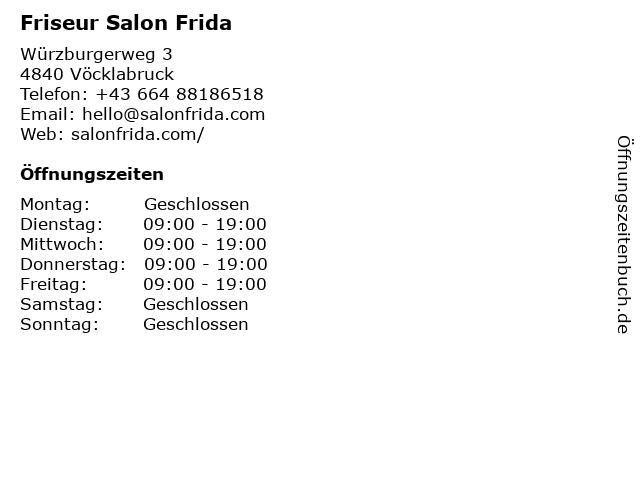 Friseur Salon Frida in Vöcklabruck: Adresse und Öffnungszeiten