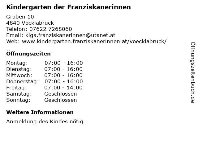 Kindergarten der Franziskanerinnen in Vöcklabruck: Adresse und Öffnungszeiten