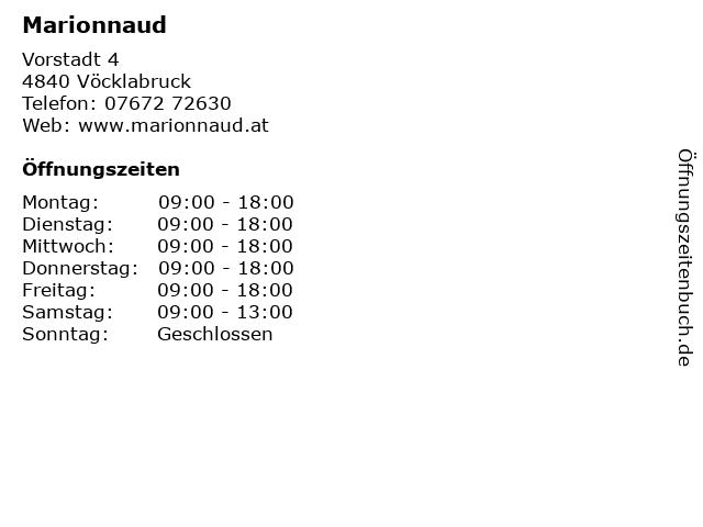 Marionnaud in Vöcklabruck: Adresse und Öffnungszeiten