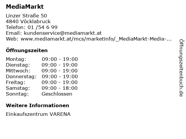 MediaMarkt in Vöcklabruck: Adresse und Öffnungszeiten