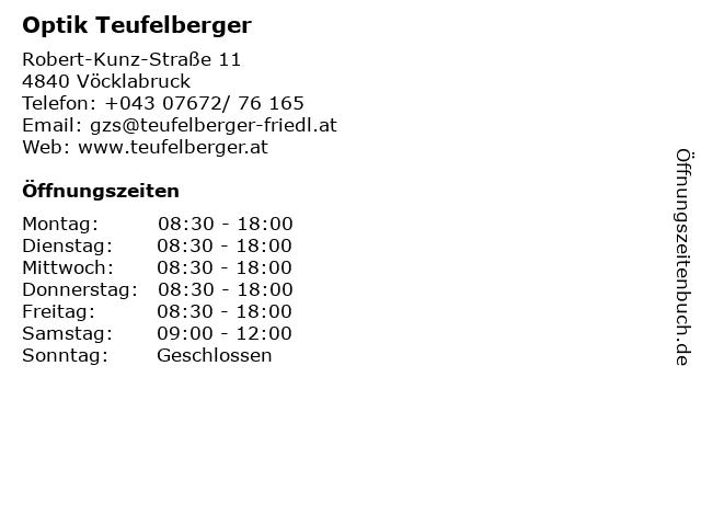 Optik Teufelberger in Vöcklabruck: Adresse und Öffnungszeiten