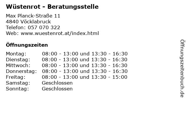 Wüstenrot - Beratungsstelle in Vöcklabruck: Adresse und Öffnungszeiten