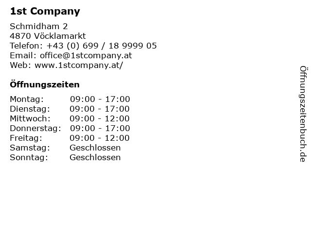 1st Company in Vöcklamarkt: Adresse und Öffnungszeiten