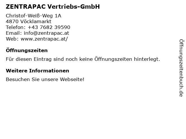 ZENTRAPAC Vertriebs-GmbH Vakuum-Verpackungstechnik in Vöcklamarkt: Adresse und Öffnungszeiten