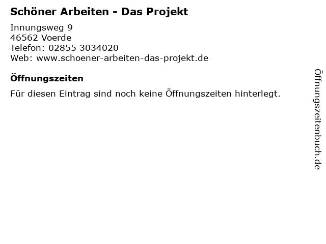 Schöner Arbeiten - Das Projekt in Voerde: Adresse und Öffnungszeiten