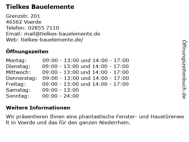 Tielkes & Kozlowski GbR in Voerde: Adresse und Öffnungszeiten