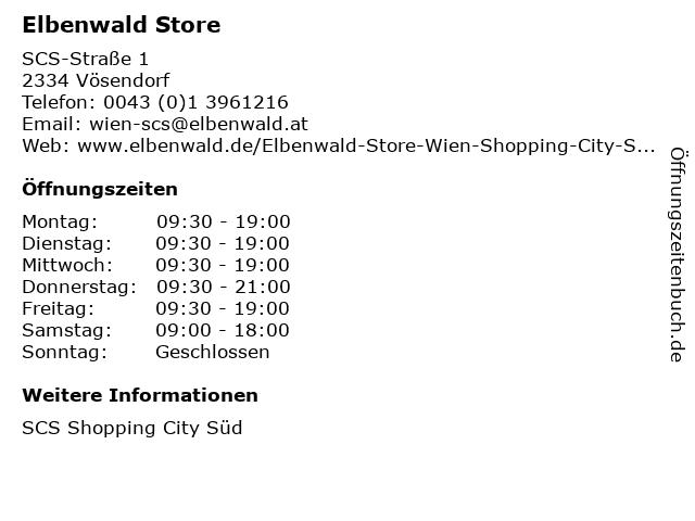 Elbenwald Store in Vösendorf: Adresse und Öffnungszeiten