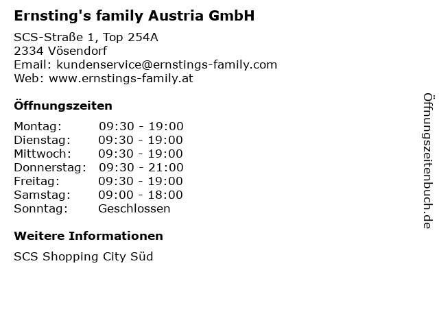 Ernsting's family Austria GmbH in Vösendorf: Adresse und Öffnungszeiten