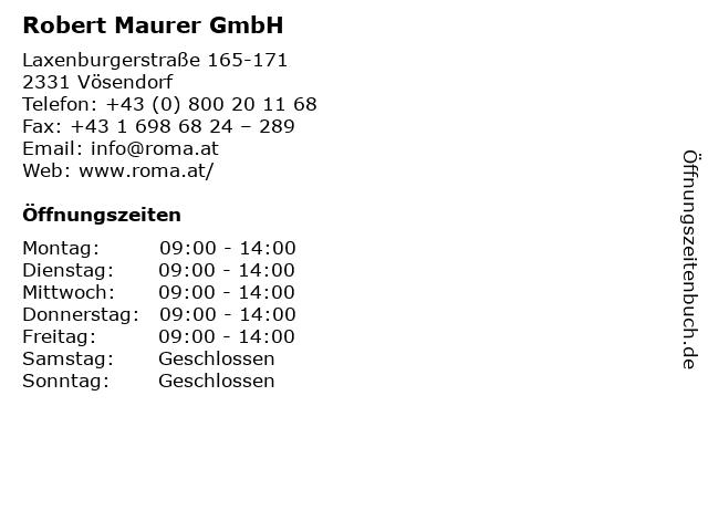Robert Maurer GmbH in Vösendorf: Adresse und Öffnungszeiten