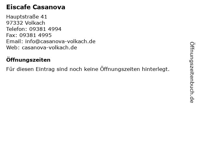 Eiscafe Casanova in Volkach: Adresse und Öffnungszeiten