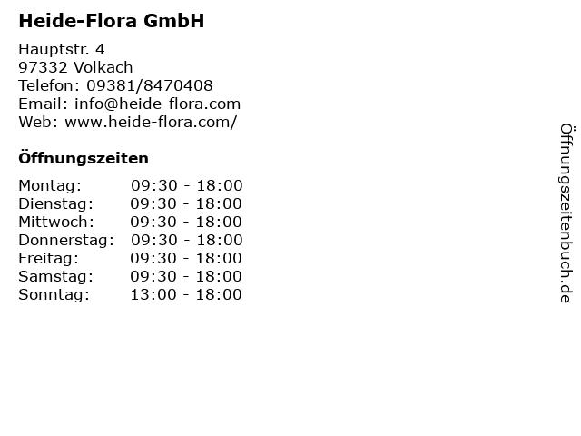 Heide-Flora GmbH in Volkach: Adresse und Öffnungszeiten
