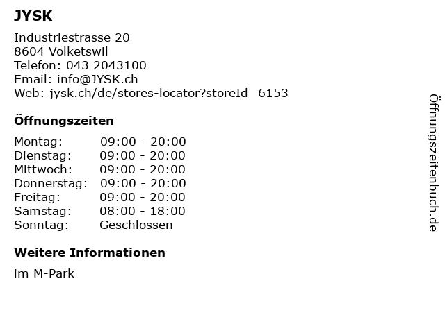 ᐅ öffnungszeiten Jysk Betten Möbel Wohnen Industriestrasse