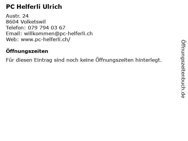 PC Helferli Ulrich in Volketswil: Adresse und Öffnungszeiten