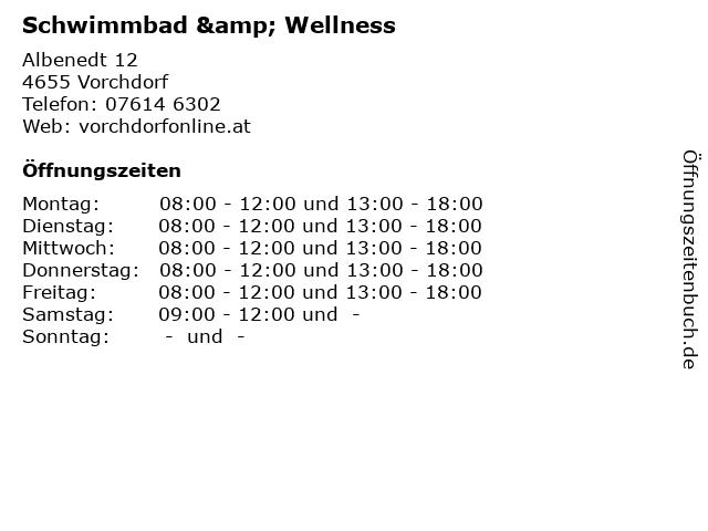 Schwimmbad & Wellness in Vorchdorf: Adresse und Öffnungszeiten