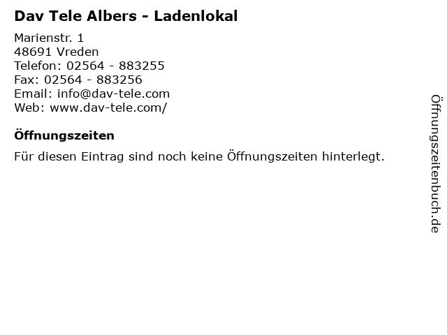 Dav Tele Albers - Ladenlokal in Vreden: Adresse und Öffnungszeiten