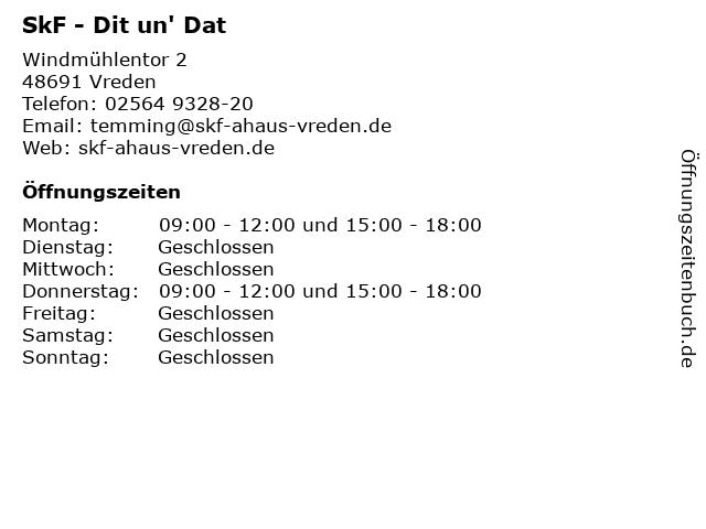 SkF - Dit un' Dat in Vreden: Adresse und Öffnungszeiten