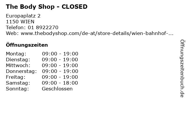 The Body Shop in Wien: Adresse und Öffnungszeiten