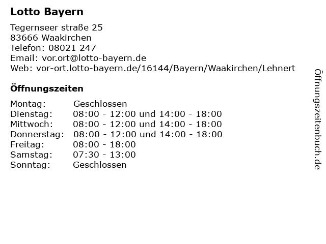 Lotto Bayern in Waakirchen: Adresse und Öffnungszeiten