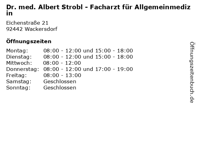 Dr.Strobl Wackersdorf