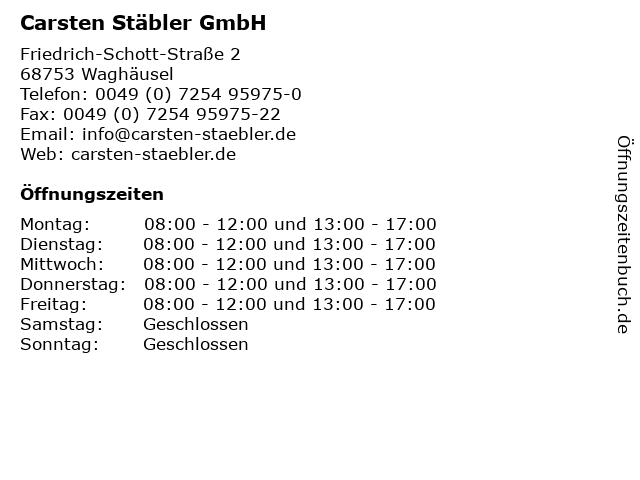 Carsten Stäbler GmbH in Waghäusel: Adresse und Öffnungszeiten