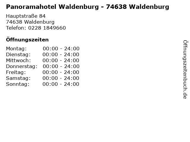 Panoramahotel Waldenburg - 74638 Waldenburg in Waldenburg: Adresse und Öffnungszeiten