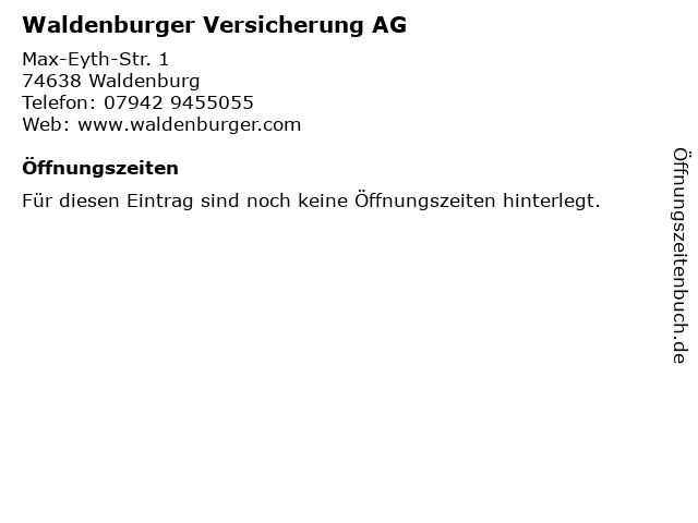 Waldenburger Versicherung AG in Waldenburg: Adresse und Öffnungszeiten