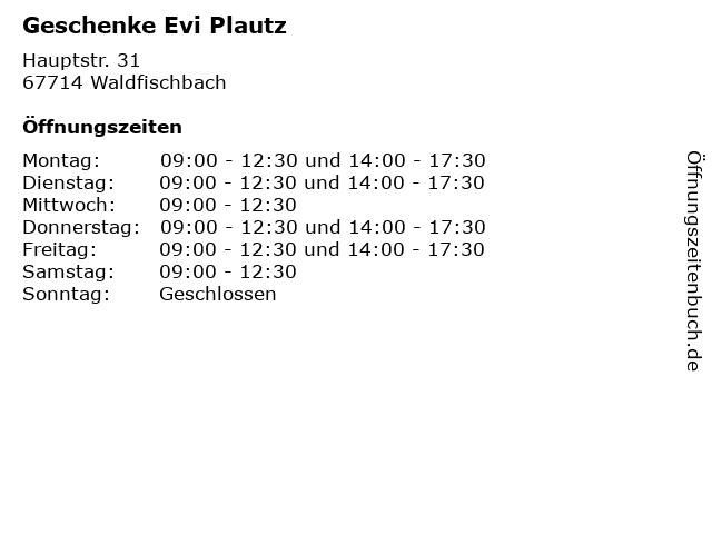 Deutsche Post Filiale - Geschenke Evi Plautz in Waldfischbach: Adresse und Öffnungszeiten