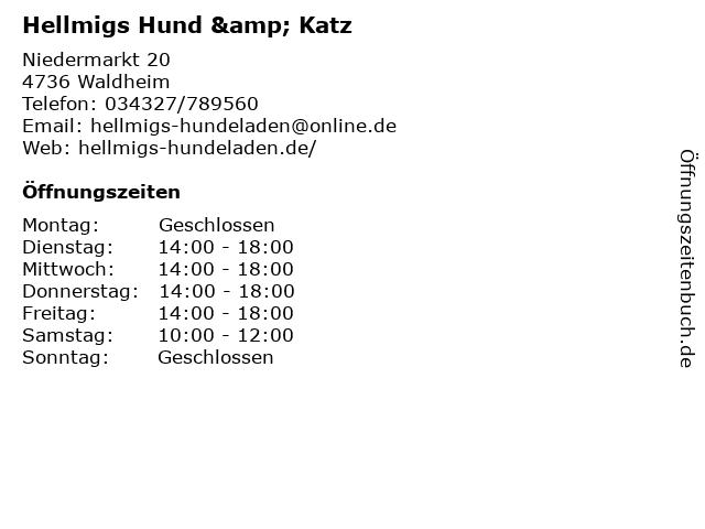 Hellmigs Hund & Katz in Waldheim: Adresse und Öffnungszeiten