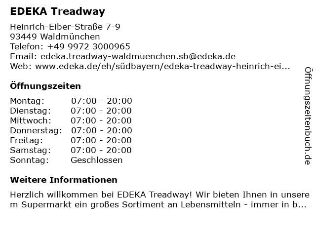 EDEKA Treadway in Waldmünchen: Adresse und Öffnungszeiten