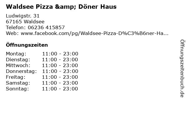 Waldsee Pizza & Döner Haus in Waldsee: Adresse und Öffnungszeiten