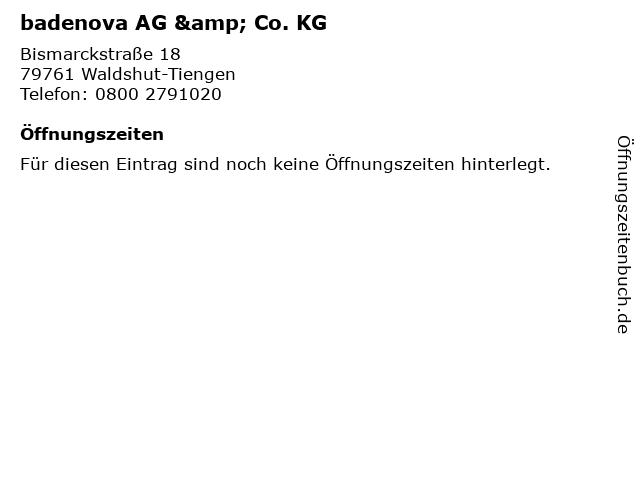 badenova AG & Co. KG in Waldshut-Tiengen: Adresse und Öffnungszeiten