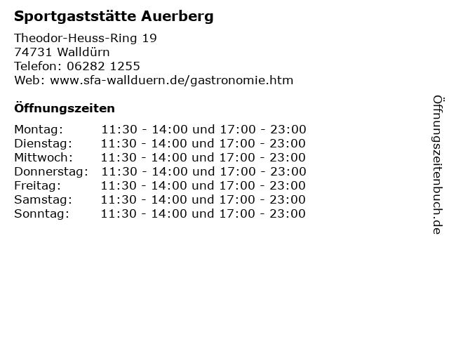 Sportgaststätte Auerberg in Walldürn: Adresse und Öffnungszeiten